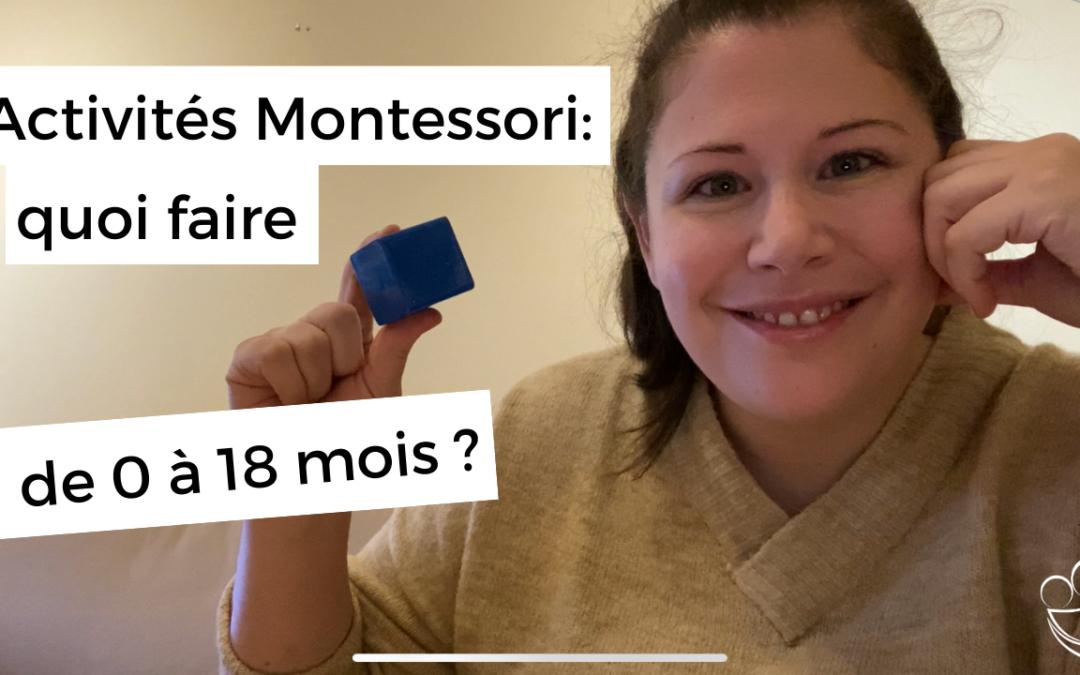 Activités Montessori pour les bébés de 0 à 18 mois