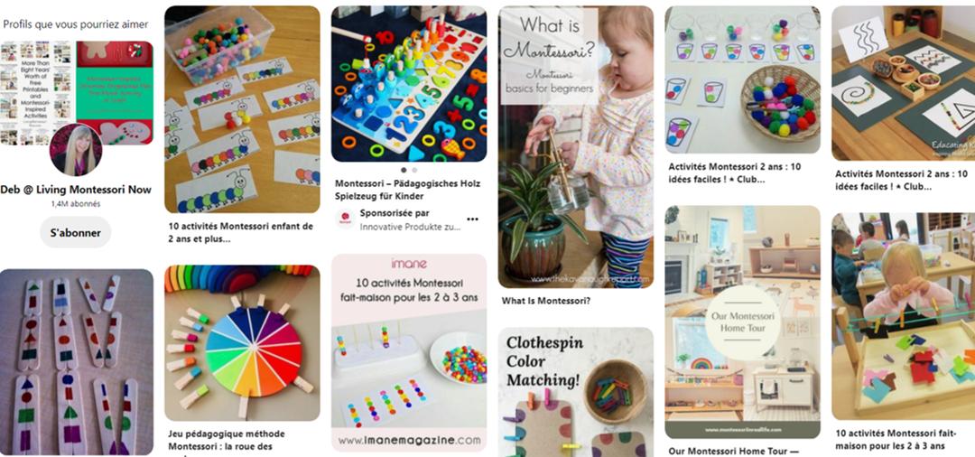 Trouver une idée d'activité Montessori